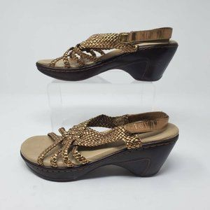 J41 Womens Marco Braided Sandals Brown Slingback A